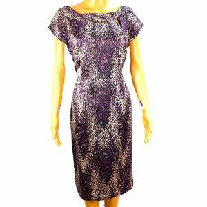 Nanette Lepore 100% SILK Animal Print Dress Sz 10